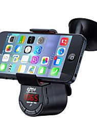 abordables -fm09 kit mains libres de voiture multifonction transmetteur fm lecteur audio mp3 avec support de support d'aspiration de voiture pour téléphone portable gps