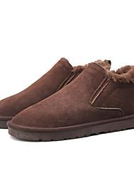 Недорогие -Муж. Комфортная обувь Искусственная кожа Зима На каждый день Ботинки Сохраняет тепло Черный / Коричневый / Хаки
