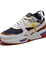 baratos -Homens Sapatos Confortáveis Com Transparência Primavera Verão Esportivo Tênis Preto / Vermelho / Azul