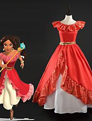 Недорогие -Принцесса Платья Все Косплей из фильмов Красный Платье Рождество Хэллоуин Новый год Шелк Satin