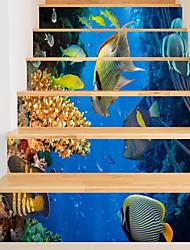 Недорогие -Декоративные наклейки на стены - 3D наклейки Животные / Море Гостиная / В помещении