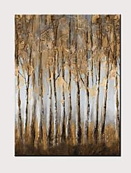 voordelige -Hang-geschilderd olieverfschilderij Handgeschilderde - Abstract Bloemenmotief / Botanisch Modern Zonder Inner Frame