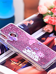 voordelige -hoesje Voor Huawei P20 lite Schokbestendig / Glitterglans Achterkant Vlinder / Glitterglans Zacht TPU voor Huawei P20 lite