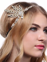 cheap Toys & Hobbies-The Great Gatsby 1920s Vintage Inspired The Great Gatsby Costume Women's Headpiece Flapper Headband Headwear White / Black / Golden Vintage Cosplay Chrome