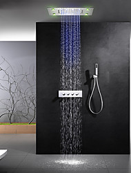 Недорогие -Смеситель для душа - Современный Хром Душевая система Керамический клапан Bath Shower Mixer Taps / Латунь