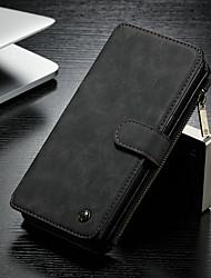 Недорогие -CaseMe Кейс для Назначение SSamsung Galaxy Note 8 Кошелек / Бумажник для карт / со стендом Чехол Однотонный Твердый Кожа PU для Note 8