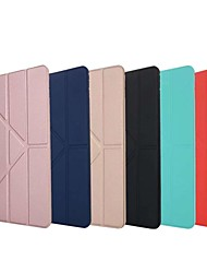 Недорогие -Кейс для Назначение Apple iPad (2018) / iPad Pro 11'' Защита от удара / со стендом / Флип Чехол Однотонный Мягкий Силикон для iPad Air / iPad 4/3/2 / iPad Mini 3/2/1