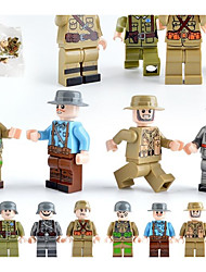 Недорогие -Конструкторы Фигурки из блоков Конструкторы Игрушки 12 pcs Армия Города Soldier совместимый Legoing моделирование Все Мальчики Девочки Игрушки Подарок / Обучающая игрушка
