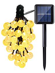Недорогие -HKV 6м Гирлянды 30 светодиоды Тёплый белый / Холодный белый / RGB Водонепроницаемый / Работает от солнечной энергии / Для вечеринок Солнечная энергия 1 комплект