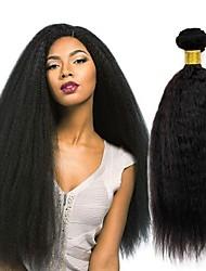 tanie -3 zestawy Włosy peruwiańskie Kinky Straight Włosy naturalne Akcesoria do peruk Fale w naturalnym kolorze Pakiet włosów 8-28 in Kolor naturalny Ludzkie włosy wyplata Jedwabisty Gładki Natutalne