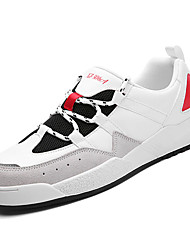hesapli -Erkek Ayakkabı PU Kış Günlük Spor Ayakkabısı Günlük için Beyaz / Siyah / Beyaz / Zıt Renkli