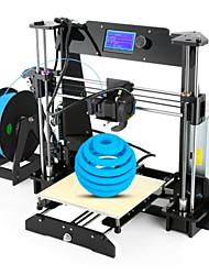 baratos -Ezt® ex8 impressora 3d kit diy 220 * 220 * 240mm tamanho de impressão suporte off / online impressão 1.75mm pla / abs / hips filamento 0.4mm bico