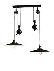 Недорогие -2-Light шишка Подвесные лампы Потолочный светильник Окрашенные отделки Металл Мини 110-120Вольт / 220-240Вольт Лампочки не включены / E26 / E27