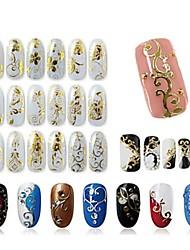 Недорогие -1 pcs 3D наклейки на ногти Креатив маникюр Маникюр педикюр Многофункциональный Мода Повседневные