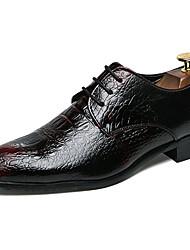 baratos -Homens Sapatos formais Sintéticos Primavera & Outono Casual / Formais Oxfords Não escorregar Preto / Vinho