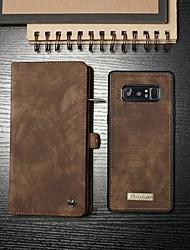 billiga -CaseMe fodral Till Samsung Galaxy Note 8 Plånbok / Korthållare / med stativ Fodral Enfärgad Hårt PU läder för Note 8