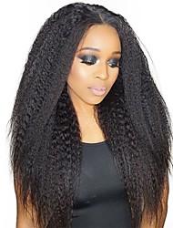 Недорогие -Dolago На клипсе Расширения человеческих волос Прямой Нейтральный Накладки из натуральных волос Натуральные волосы Бразильские волосы 7 шт Без запаха Натуральный 100% девственница Все - Черный