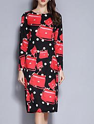Недорогие -платье для женщин / для вечеринок до колен красное s m l xl