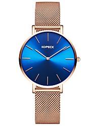 Недорогие -Kopeck Для пары Наручные часы электронные часы Японский Японский кварц Нержавеющая сталь Розовое золото 30 m Защита от влаги Повседневные часы Аналоговый Мода Цветной - Розовое золото