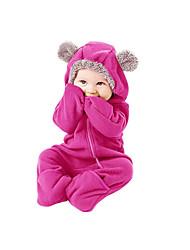 Недорогие -малыш Девочки Активный / Классический Повседневные Однотонный Стильные / Классический Длинный рукав 1 предмет Розовый / Дети (1-4 лет)