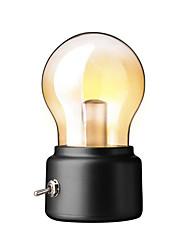 Недорогие -1 шт. Творческий ретро usb ночник аккумуляторная лампа лампа атмосфера свет спальня прикроватная подсветка теплый белый цвет