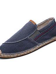זול -בגדי ריקוד גברים אספדרילס קנבס אביב יום יומי נעליים ללא שרוכים נושם חום / כחול / חאקי