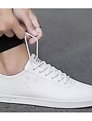 hesapli -Erkek Ayakkabı PU Yaz Spor Ayakkabısı Günlük / Dış mekan için Beyaz / Siyah ve Beyaz / Pembe ve Beyaz