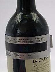 abordables -1pc thermomètre bracelet en acier inoxydable (4--24'c) capteur de température du vin rouge