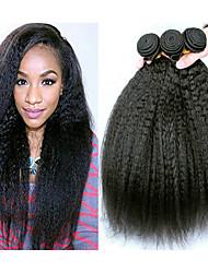 abordables -Lot de 3 Cheveux Brésiliens Droit crépu Cheveux Vierges Naturel Tissages de cheveux humains Accessoire de Costume Bundle cheveux 8-28 pouce Couleur naturelle Tissages de cheveux humains Soyeux