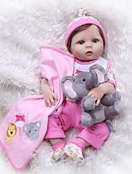 Недорогие -NPKCOLLECTION Куклы реборн Кукла для девочек Девочки 24 дюймовый Силикон Винил - Новорожденный как живой Искусственные имплантации Голубые глаза Детские Девочки Игрушки Подарок