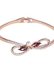 Χαμηλού Κόστους -Γυναικεία Κλασσικό Βραχιόλια - Στυλάτο, Απλός Βραχιόλια Κοσμήματα Ασημί / Χρυσό Τριανταφυλλί Για Δώρο Καθημερινά