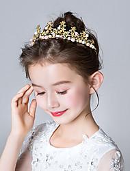 Недорогие -Принцесса Эльза Анна Девочки Хэллоуин Новый год Лоб Корона Назначение Рождество Halloween Маскарад Головные уборы Прозрачный Бижутерия