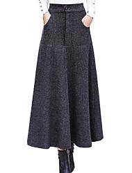 Недорогие -женские юбки миди-лайн - однотонные