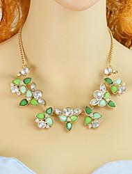 Недорогие -Жен. Цветочный Заявление ожерелья Мода Милый Светло-Зеленый 44.5 cm Ожерелье Бижутерия 1шт Назначение Повседневные