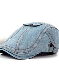 Недорогие -унисекс полиэстер берет шляпа - сплошной цвет