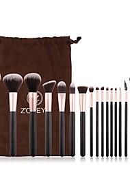 voordelige -16pcs Make-up kwasten professioneel Make-up set Oogschaduw Kit Make-up borstels Eyelinerkwast Blushkwast Foundationkwast Make-up kwast Lippenkwast Zacht / Nieuw Design / Beugel Houten / bamboe