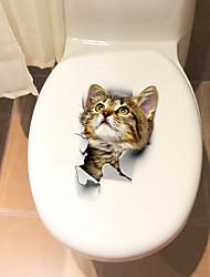 billige -Toilet klistermærker - Animal Wall Stickers Dyr Stue / Soveværelse / Badeværelse