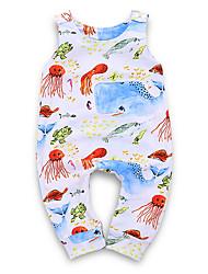 お買い得  -赤ちゃん 女の子 ストリートファッション 日常 プリント ノースリーブ ポリエステル ワンピース ホワイト