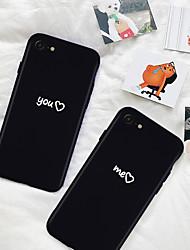 Недорогие -Кейс для Назначение Apple iPhone XR / iPhone XS Max С узором Кейс на заднюю панель Слова / выражения / С сердцем Мягкий ТПУ для iPhone XS / iPhone XR / iPhone XS Max