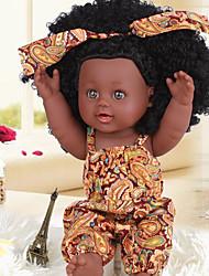 Недорогие -KIDDING Куклы реборн Кукла для девочек Девочки Африканская кукла 12 дюймовый Полный силикон для тела Силикон Винил - как живой Ручная Pабота Очаровательный Дети / подростки Детские Универсальные