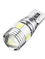 Недорогие -10 шт. T10 / W5W Автомобиль Лампы SMD 5630 6 Светодиодная лампа Внутреннее освещение Назначение Универсальный / Volkswagen / Toyota Дженерал Моторс Все года