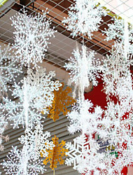 abordables -Décorations de vacances Nouvel An / Décorations de Noël Décorations de Noël Décorative Blanc 6pcs