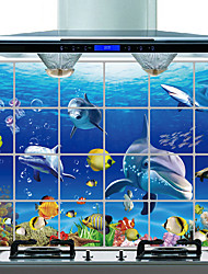 Недорогие -Декоративные наклейки на стены - Простые наклейки Пейзаж / Животные Гостиная / Спальня / Ванная комната