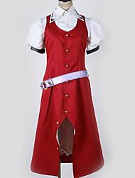 baratos -Inspirado por Projecto de Touhou Fantasias Anime Fantasias de Cosplay Ternos de Cosplay Contemporâneo Camisa / Vestido / Cinto Para Homens / Mulheres