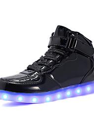preiswerte -Jungen / Mädchen Schuhe PU Frühling / Herbst Leuchtende LED-Schuhe Sneakers Walking LED für Kinder Silber / Blau / Rosa