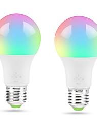 Недорогие -ZDM 2 шт. умный Wi-Fi теплый белый свет лампы E27 4,5 Вт лампы для спальни ночник не требуется концентратор, совместимый с алексей че& помощник гугл& режим музыки ifttt&amp