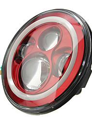 Недорогие -7 дюймов 6000 К светодиодный привет-луч луч фар ореол угол глаза белый дрл красный поворотник для джип-спорщик