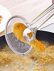 Недорогие -Многофункциональная фильтровальная ложка с зажимом для еды на кухне, масло для жарки, барбекю, фильтр из нержавеющей стали