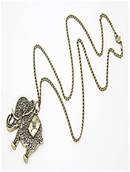 Недорогие -Муж. Ожерелья с подвесками Хром Античная бронза 60 cm Ожерелье Бижутерия 1шт Назначение Повседневные