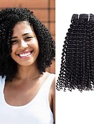 저렴한 -3 개 묶음 Kinky Curly 버진 헤어 헤드 피스 인간의 머리 직조 헤어 케어 8-28 인치 자연 색상 인간의 머리 되죠 뜨거운 판매 멋진 러블리 인간의 머리카락 확장 여성용
